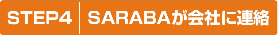 STEP4 SARABAが会社に連絡